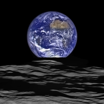 NASA released a new high-resolution earthrise image captured by the Lunar Reconnaissance Orbiter