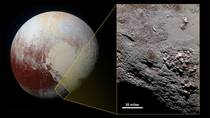 NASA released new high resolution footage of a mountain on Pluto called Wright Mons