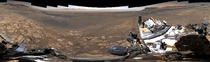 NASA releases  billion pixel panorama picture of Mars from the Curiosity rover link to full file in comments