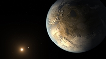 NASAs Kepler Discovers First Earth-Size Planet Kepler-f in the Habitable Zone of Another Star This is an artists illustration