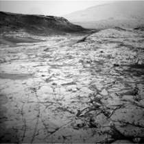 NASAs MAVEN Mars orbiters capability to relay data from a Mars surface mission on Nov   included this and other images from NASAs Curiosity Mars rover The image was taken Oct   by Curiositys Navigation Camera showing part of Pahrump Hills outcrop