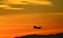 NASAs Stratospheric Observatory for Infrared Astronomy SOFIA takes off from Palmdale California at sunset