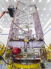 NASAs Webb Sunshield Undergoes Rocket Fitting More Testing httpswwwnasagovmission_pageswebbimagesindexhtml