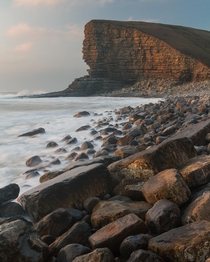 Nash Point South Wales at sunset