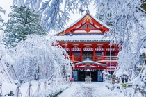 Natadera Temple in winter Japan
