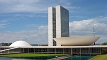 National Congress of Brazil designed by Oscar Niemeyer