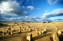 Natural limestone structures at Nambung National Park Western Australia -