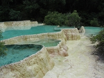 Natural pools in Huang Long Sichuan - by David Maximillian Waterman