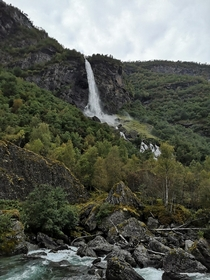 Natural waterfall Norway
