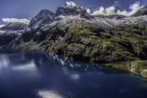 Naturally Blue Water Over Lake Erskine Fiordland National Park