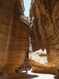 Naturally carved pathways of Petra Jordan