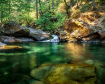 Natures swimming pool on the Applegate River OR