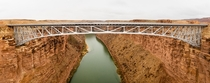 Navajo Bridge spans the Colorado River and Marble Canyon in Northern Arizona