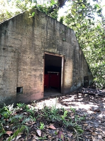 Naval munitions bunker on the Palmyra Atoll built circa