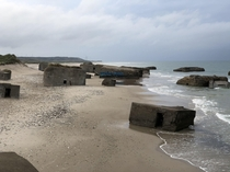 Nazi bunkers in Vigs Denmark Built in  as a part of the Atlantic Wall You can crawl around inside and climb up through a few The sea is slowly claiming them