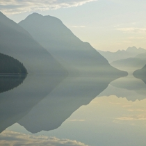 Near perfect reflection Alouette Lake Golden Ears Provincial Park British Columbia Photo via SSGParksPics link in comments