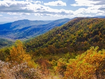 Nearing peak fall color in Shenandoah National Park