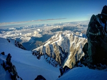 Nearing the Summit of Mont Blanc