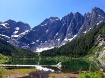 Nearly right in the middle of Vancouver Island is this beautiful vista around Landslide Lake