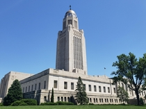 Nebraska State Capitol Building -  art deco tower