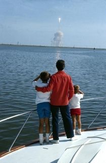 Neil Armstrongs family watching him launch to the moon  years ago
