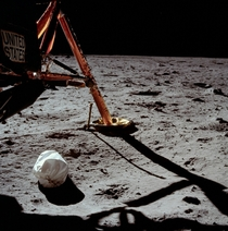 Neil Armstrongs first photograph after setting foot on the Moon  JSC scanNASA