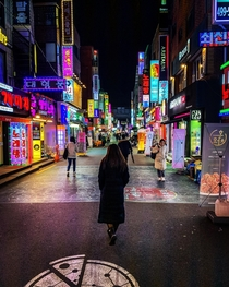 Neon and LED lights of Seoul