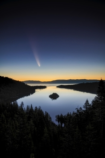 Neowise comet over Emerald Bay in Lake Tahoe California  by the_lost_coast