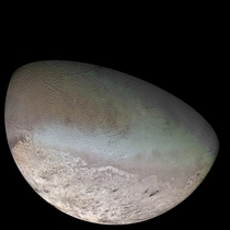 Neptunes biggest satellite Triton One of the final images of Voyager s planetary missions