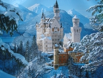 Neuschwanstein Castle Germany real-life model for Disneys Sleeping beauty-castle