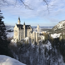 Neuschwanstein Castle in January Schwangau Germany