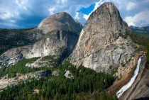 Nevada Falls and Liberty Cap from John Muir Trail - Yosemite National Park