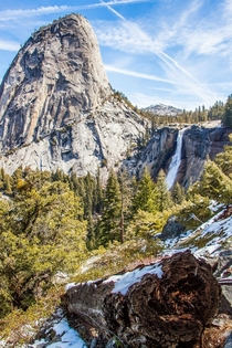 Nevada Falls and Liberty Cap Yosemite CA