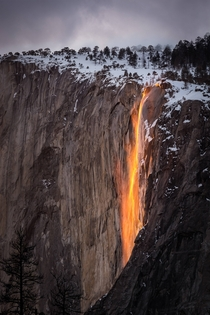 Never been so awestruck by nature before Firefall in Yosemite CA