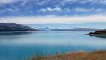 Never seen a lake so blue before in person Lake Pukaki New Zealand
