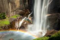 Never thought we will see a Rainbow over Vernal Falls Yosemite National Park California