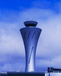 New air traffic control tower at SFO airport San Francisco CA