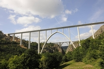 New and old viaducts over the Ulla river Spain