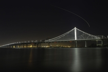 New eastern span of the Oakland-SF Bay Bridge long exposure from Treasure Island