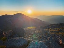 New Hampshire in the morning is hard to beat From Mount Jefferson view of Mount Adams