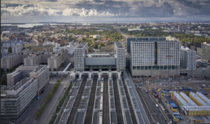 New Helsinki Pasila Railway station complex with shopping center hotel offices and more