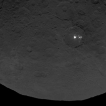 New high-resolution images  meterspixel of bright spots on Ceres taken by Dawn at km from surface