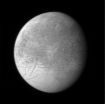 New Horizons image of Europa BampW