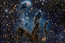 New Image of Eagle Nebulas Pillars of Creation