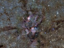 New image of the Lobster Nebula with the Pismis - star that has a mass over  times that of the Sun