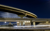 New interchange of Alberta Highways  amp  Edmonton Canada
