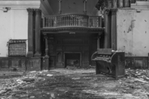 new maps of hell  piano abandoned school ballroom UK