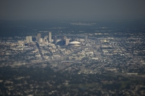 New Orleans Louisiana as seen from Air Force One departing after the presidential visit to the city on the th anniversary of Hurricane Katrina