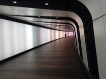 New pedestrian tunnel at Kings Cross St Pancras tube station London