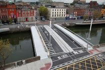 New public transit bridge across River Liffey Dublin